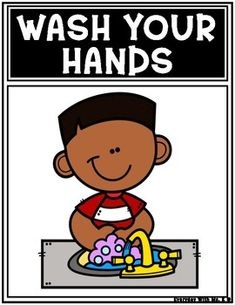 Stay Healthy Wash Your Hands PostersWhat is this resource?This resource is for helping your students Preschool Classroom Rules, Preschool Songs, Classroom Posters, Beginning Of School, Back To School, Alphabet Writing Practice, Teaching Life Skills, School Murals, Programming For Kids