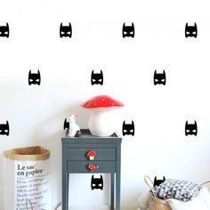 batman, stickers masque super hero Pöm