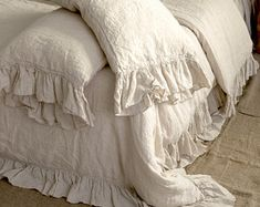 3 Insane Tips and Tricks: Shabby Chic Bedding Ruffle Duvet shabby chic living room fireplace. Shabby Chic Living Room, Shabby Chic Furniture, Shabby Chic Decor, Ruffle Duvet, Linen Duvet, Ruffles, Dust Ruffle, Cotton Duvet, Chic Bedding