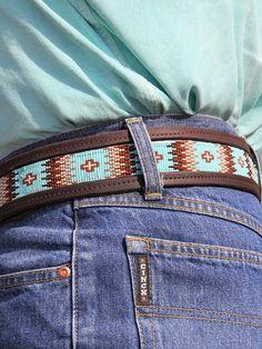 Beaded Belts, Beaded Jewelry, Beaded Bracelets, Western Belt Buckles, Western Belts, Leather Label, Leather Belts, Bead Loom Patterns, Beading Patterns