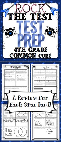 4th Grade Math Test Prep (Rock the Test) - Help your students rock the test! There are multiple choice, short answer, and longer extended performance tasks. It is aligned to the 4th grade Common Core Standards! Wow! $
