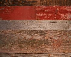 Red and Gray Reclaimed Barn Wood Reclaimed Wood Paneling, Rustic Wood Walls, House Cladding, Wood Cladding, Natural Paint Colors, Best Wood Flooring, Wood Panel Walls, Red Barns, Ship Lap Walls