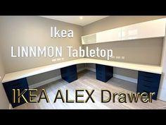 Ikea Alex Desk, Ikea Alex Drawers, Ikea Desk, Desk With Drawers, Desk Redo, Desk Setup, Craft Room Desk, Drawer Unit, Home Office Decor