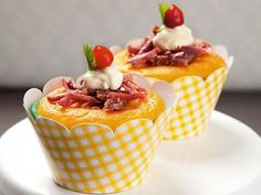 cupcake de fubá e carne seca para fazer nas festas juninas.