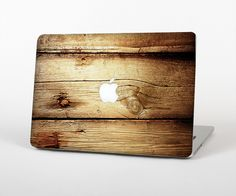 """The Old Bolted Wooden Planks Skin Set for the Apple MacBook Pro 15"""" with Retina Display from Design Skinz"""