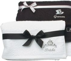 Bride and Groom Towel Gift Set - threelittlebears.co.uk