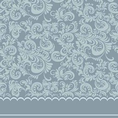 Blue floral border wall decal