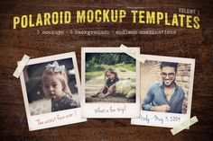 Polaroid Mockup Templates Volume 1 by Design Panoply on Creative Market