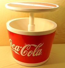 NEW Coca Cola Keter Cool Bar Cooler Cocktail Patio Table Pop Up Table, Coke