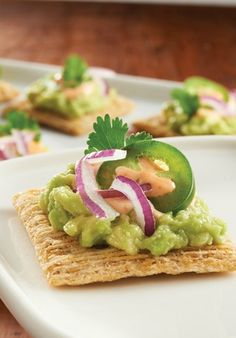 Top your favorite crackers with this Mashed Avocado mix. Your party guests are sure to love the slightly spicy and bold flavor of this appetizer recipe.