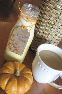 Homemade Pumpkin Coffee Creamer- just used half and half instead of cream and milk and used 4 T pumpkin.