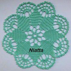 Mint Doily Star Lace Fresh Handmade