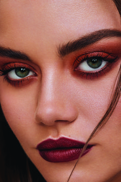 Cute Makeup Looks, Fall Makeup Looks, Pretty Makeup, Eye Makeup Art, Skin Makeup, Eyeshadow Makeup, Eyeshadow Palette, Naked Palette, Red Makeup
