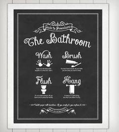 Cute Bathroom Print.