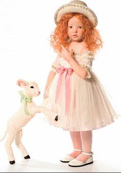 Hildegard Gunzel Maite in Porcelain Doll with Sheep Brand New | eBay