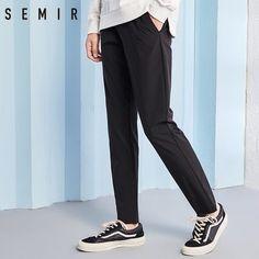 Pantalones SEMIR para hombres pantalones cargo hombres pantalones casuales  Color sólido ocio pantalones para. f627f93608c