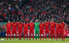 Tribute to 96 before the match vs West Ham.