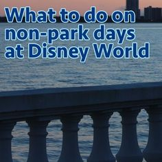 Things to do on non park days at Disney World - Ideas on visiting resorts, beaches, mini golf + more