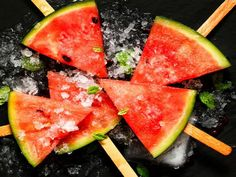 Leftover watermelon? There's no need to discard it – simply inset a popsicle stick or wooden skewer ... - zi3000/Shutterstock