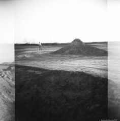 This moody image at the active Salton Buttes volcano, I shot with a Holga with 120 format film.