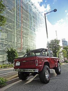 Ford Trucks, Pickup Trucks, Classic Ford Broncos, Early Bronco, Offroad, Dream Cars, Ranch, Garage, Burgundy
