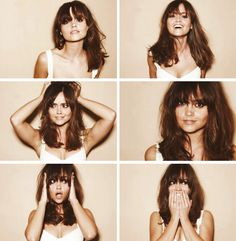 Jenna Coleman - being adorable as per. Hair Day, New Hair, Your Hair, Langer Pony, Doctor Who, Eleventh Doctor, Gorgeous Hair, Hair Inspiration, Hair Goals