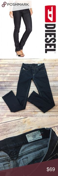 """Diesel Liv Jeans Diesel Liv Straight skinny jeans. Size 25 x 34. Front rise 8""""/ back rise 10"""". Made of 98% cotton/ 2% elastane Diesel Jeans"""