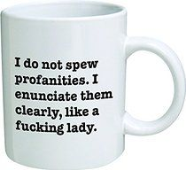 Funny Mug 11OZ I do not spew profanities, I enunciate them like a lady, novelty and gift, frienship, friends, by Yates And Franco