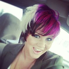 Would so love to be able to pull this off! Maybe just the pink and black.. With a little blonde