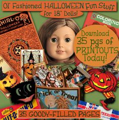 AG HALLOWEEN Printouts  Fun Stuff 18 inch Doll by eVINTAGEpatterns, $4.99