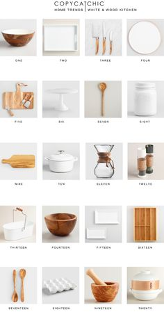 Home Trends My favorite white and wood kitchen essentials from Cost Plus World Market for keeping your kitchen clean organized & looking pretty. copycatchic luxe living for less The post Home Trends appeared first on Wood Diy. Kitchen Items, Home Decor Kitchen, Interior Design Kitchen, Kitchen Furniture, Home Design, Home Kitchens, Kitchen Utensils List, Rental Kitchen, Kitchen Goods
