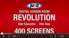 M&R's Digital Screen Room equipment makes it possible for one operator in a screen printing shop to coat, image, expose & rinse 400 pre-registered screens in 8 hours.  www.mrprint.com/DSR5 If you've watched it and you still don't believe it, you can check out the unedited footage here: http://www.mrprint.com/dsr30