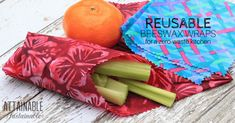 Working on a zero waste kitchen? Make your own beeswax cloth wraps to replace to replace disposable plastic wraps and bread bags!