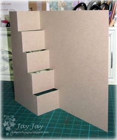 tutorial for a vertical step card