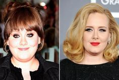 Before and after beautiful Adele