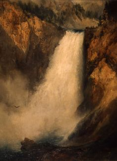 "Thomas Moran, ""Lower Falls of Yellowstone"""