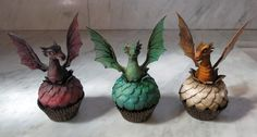 Dragon Cupcakes: Margie Carter Cake World, facebook