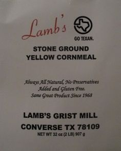 Lambs original cornbread recipe. Different from the new one on the packaging now.