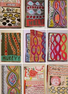 Mary Ann Moss visual journal pages #sketchbook #patterns