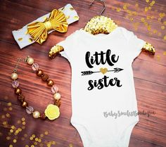 Little Sister Shirt Sibling Shirts Girl by BabySmilesBoutique