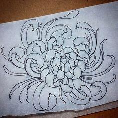 #chrysanthemum #mum #flower #tattoo #baltimore