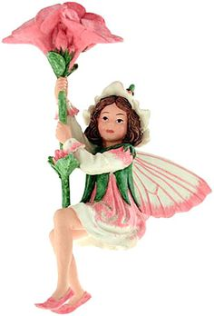 The Phlox Flower Fairy, the charm of Cicely Mary Barker's Flower Fairies has been brought to life in these precious figurines. Display them with the gold cord or use the 6 inch wire pick provided to decorate flower arrangements, plants or gift baskets.