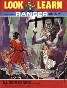 Orpheus And Eurydice Pulp Magazine, Famous Couples, Classic Comics, Comic Book Covers, Vintage Books, My Childhood, Comic Art, Nostalgia, The Past