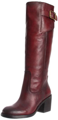 Lucky Brand Women's Juneau Boot: In Red. Lucky Brand, Fashion Forward, Riding Boots, What To Wear, Footwear, Beaded Bracelets, Style Inspiration, Handbags, Amazon