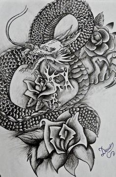 Pix For > Simple Japanese Dragon Tattoo