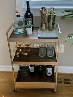 DIY Bar Cart IKEA Hack. Make these stylish and functional bar cart for your home
