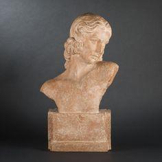 Chiparus buste de femme terre cuite