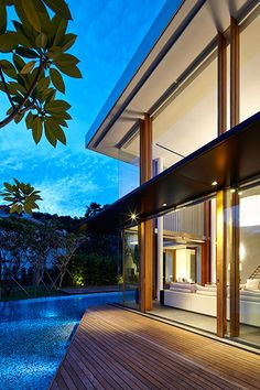 Modern sophisticated home in Singapore by Robert Greg Shand Architects