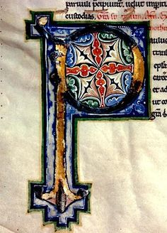"""""""P"""". 13th cent. Bible France"""
