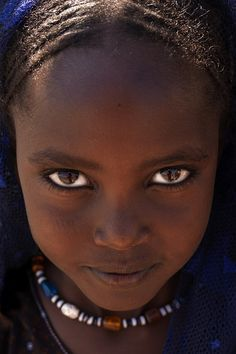 Afar girl's eyes, Danakil, Ethiopia by Eric Lafforgue #peopleoftheworld #photography
